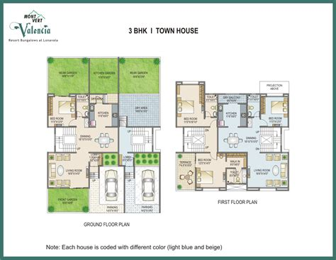 3bhk house plan floor plans mont vert valencia 2