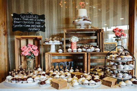 rustic wedding dessert table ideas rustic dessert bar display crafty projects pinterest