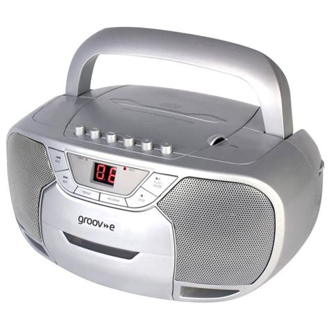 cassette and cd player groov e gvps823 retro boombox portable cd cassette