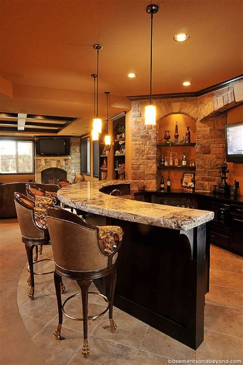 Basement Bar | 52 splendid home bar ideas to match your entertaining