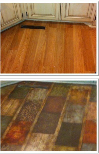 Decoupage Concrete Floor - best 25 paper bag flooring ideas on brown