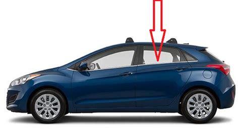 2013 Hyundai Elantra Door Replacement by Rear Door Glass Driver Side Hyundai Elantra Gt 4 Door