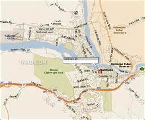 maps kamloops bc canada kamloops map