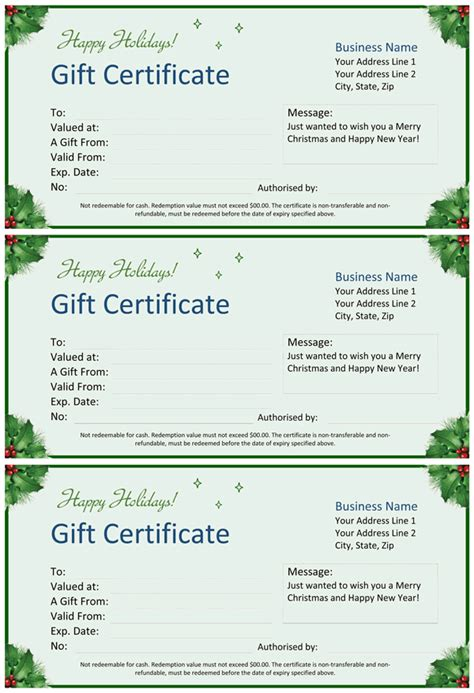gift certificate template word gift certificate for word