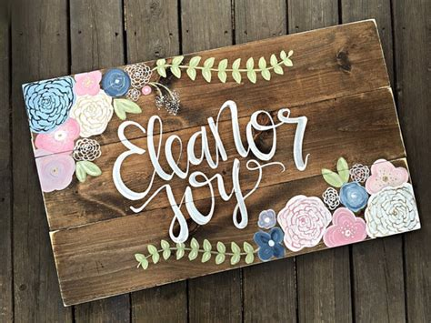 Handmade Baby Name Signs - nursery decor name sign rustic decor home decor