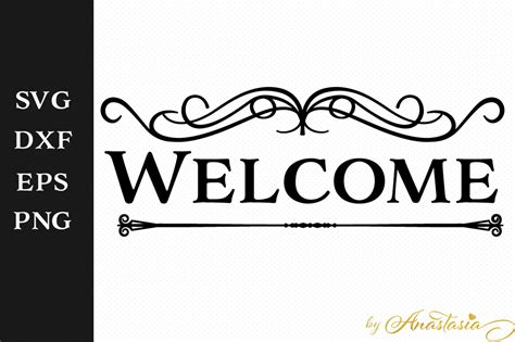 welcome house welcome house sign greeting sign svg decal creative fabrica
