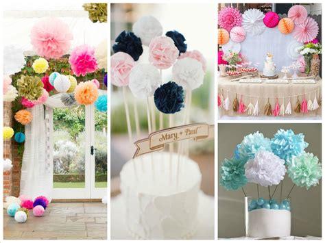 pom poms decorations what s new in wedding decoration ideas pom poms