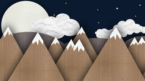 How To Make Mountain With Paper - paper mountains wallpaper 3892