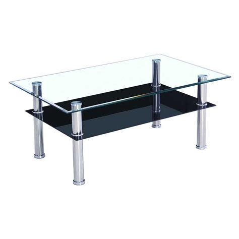 Glass Top Coffee Table Casual Cottage Glass Coffee Table