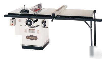 shop fox 174 w1711ext 10 quot 5hp table saw w 50 quot fence