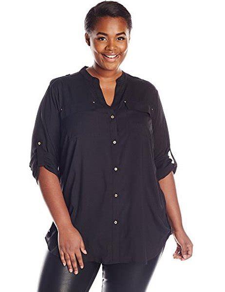 Hq 11481 Black V Neck Lace Top versatile tops for plus size ideas hq