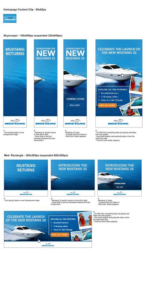 banner design on behance mustang banner ad design on behance