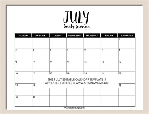 printable fully editable  calendar templates  word format  calendar templates
