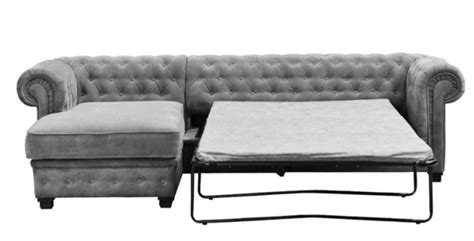 Chesterfield Fabric Sofa Bed by Chesterfield Sofa Bed 3 Seater Blue Fabric