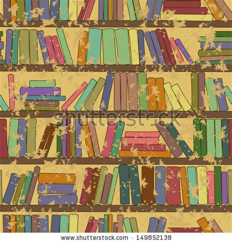 pattern for little library vintage seamless pattern of library bookshelf with books