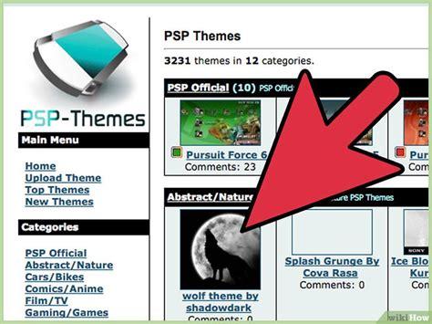 psp themes how to install como baixar e instalar temas no psp 11 passos