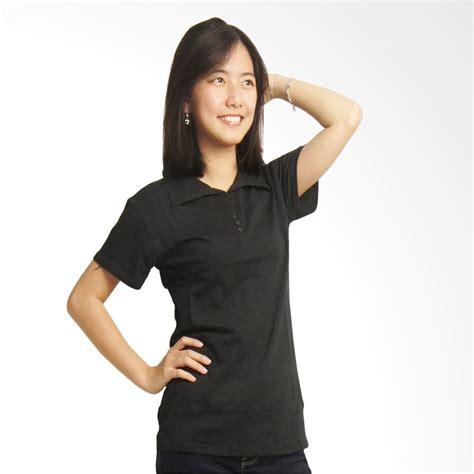 Atasan Kaos Wanita Monalisa Polos jual adore lengan pendek hitam kaos polo wanita harga kualitas terjamin blibli