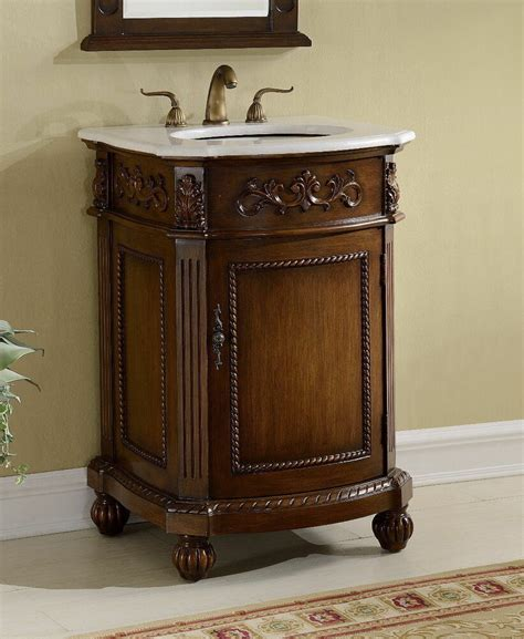 Bathroom Sink Vanity Cabinet by 24 Camelot Antique Bathroom Sink Vanity Cabinet W White