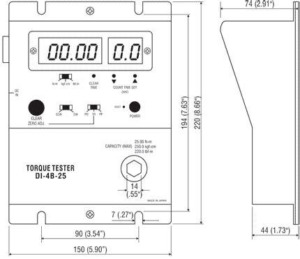 Produk Timer Manual Timer Mekanik checkline di 4b 25 tork test cihazı tork test cihazı