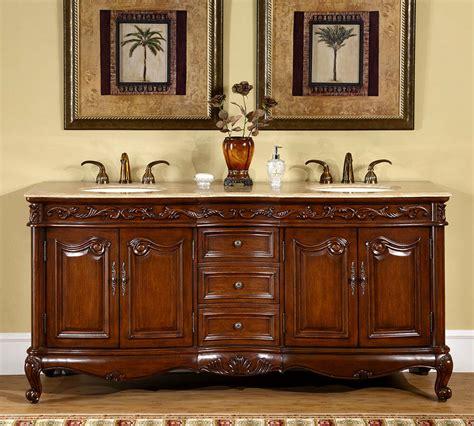 bathroom travertine stone top lavatory double sink vanity bath cabinet  ebay