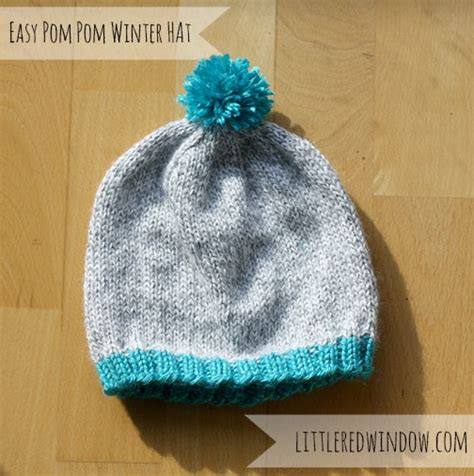 knitting pattern 2 year old hat easy winter pom pom hat knitting pattern little red window