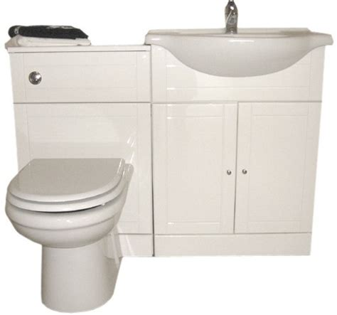 Kitchen Sink Davinci 84x49x21cm white bathroom furniture suite with tap and waste right