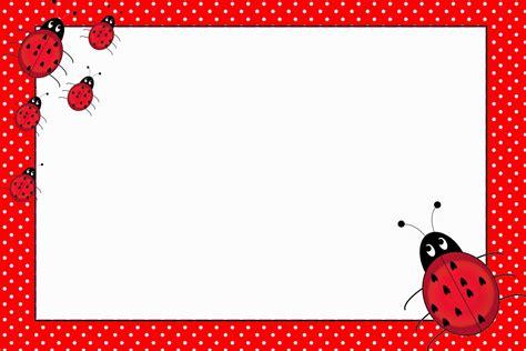 free printable birthday cards ladybugs ladybugs free printable invitations oh my fiesta in