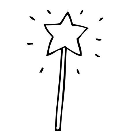 free coloring pages of magic wand