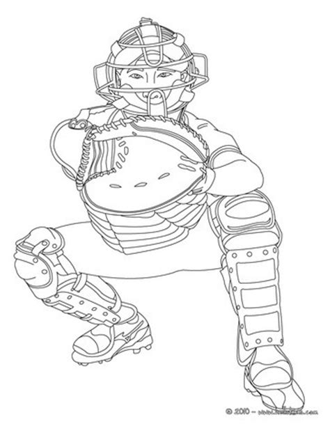Baseball Catcher Coloring Pages catcher coloring pages hellokids