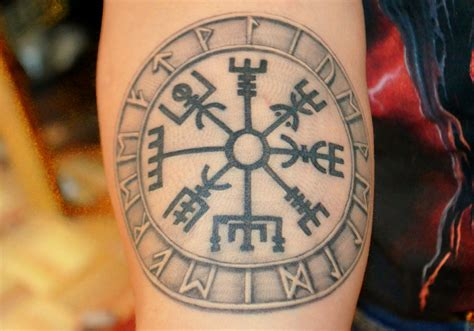 vegvisir tattoo this is my latest tattoo the symbol