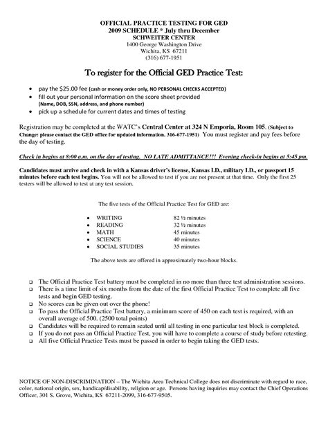 printable ged practice test 16 best images of ged print out worksheets free ged math