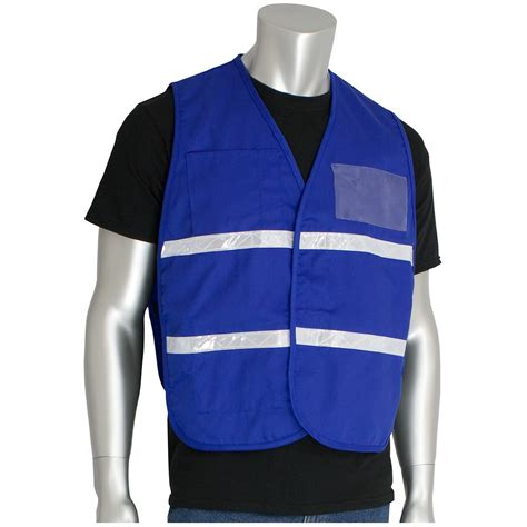 Vest Blue pip 300 2504 cotton polyester non ansi incident command vest royal blue fullsource