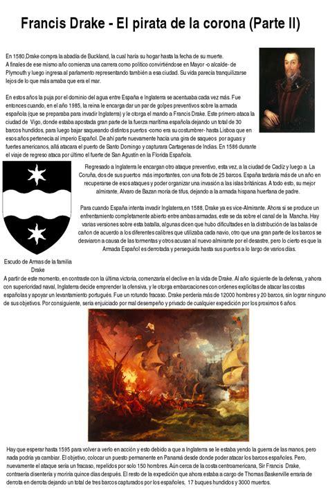el pirata de las francis drake el pirata de la corona parte ii apuntes y monograf 237 as