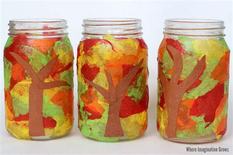 jar crafts jar fall luminaries craft where imagination grows