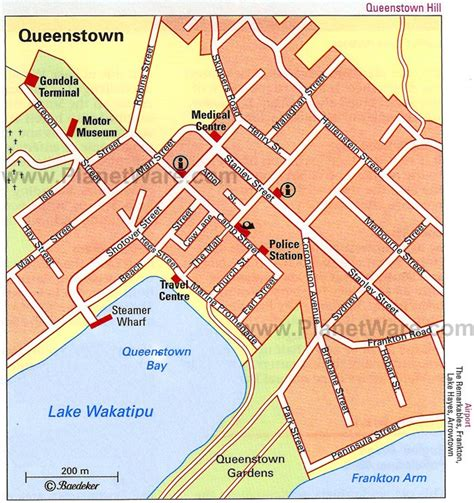 printable map queenstown 14 top rated things to do in queenstown planetware