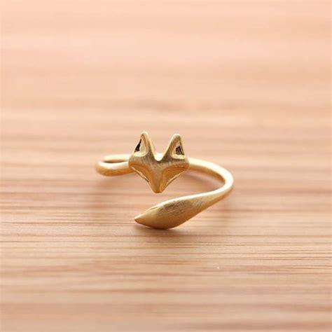 woodland creature rings fox ring