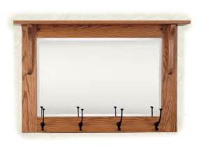 mission wall mirror with coat rack from dutchcrafters amish furniture
