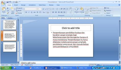 membuat power point 2007 cara membuat microsoft office powerpoint 2007 membuat