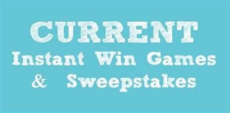 Instant Win Gaming - current instant win games