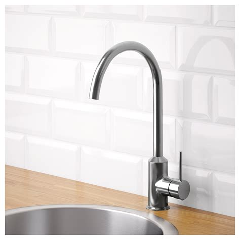 Ikea Kitchen Sinks And Taps Ringsk 196 R Single Lever Kitchen Mixer Tap Stainless Steel Colour Ikea