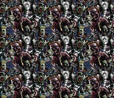 zombie pattern fabric zombie cluster wallpaper mattcrossley spoonflower