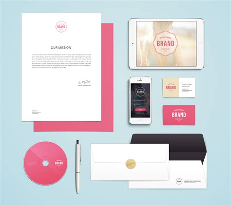 mock up template branding identity mockup vol 4 graphicburger