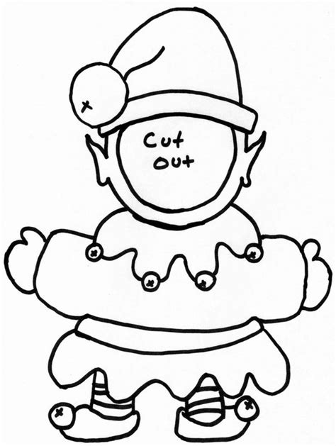 printable elf cut outs leaves to color and cut out az coloring pages