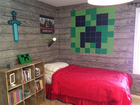minecraft bedroom ideas minecraft bedroom my son loves it minecraft pinterest