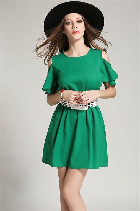 Fashion Dress green a line 2018 summer fashion dress with belt women s dresses women s fashion buy high