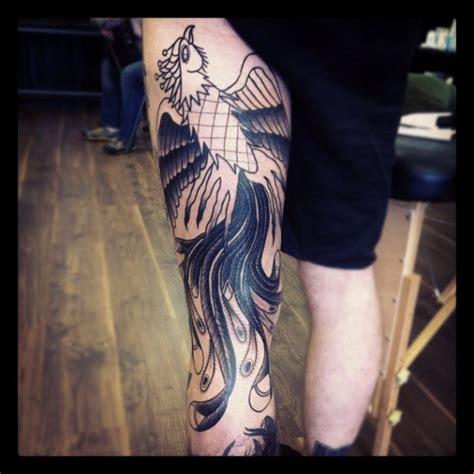 tattoo phoenix on leg 35 phoenix leg tattoos