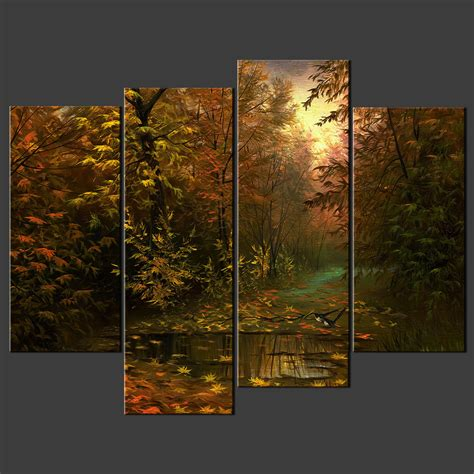 A Frame Homes by Birds In Forest Split Canvas Wall Art Pictures Prints