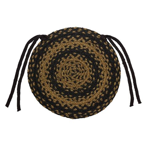 chair pads braided braided chair pads country primitive by ihf set of 4 ebay