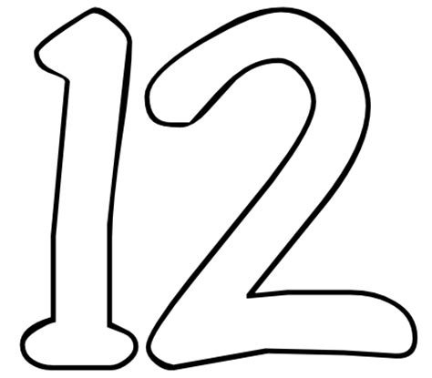 Number 12 Coloring Page color by number printables number 12 color by number org
