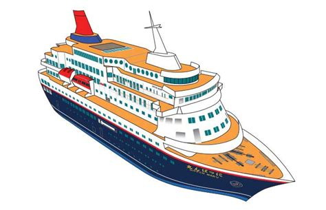 Origami Cruise Ship - nippon maru cruise ship paper model free template